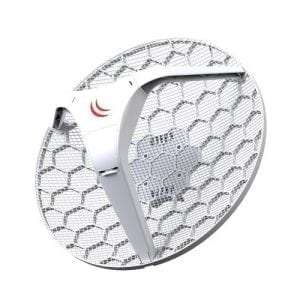 Mikrotik RBLHG-5nD LHG 5 Light Head Grid 5GHz CPE integrated 24.5 dBi grid antenna PoE 6W