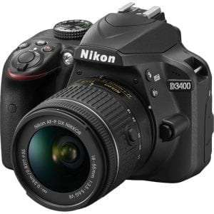 NIKON D3400 DSLR Camera with DX 18-55 mm f/3.5-5.6G Lens