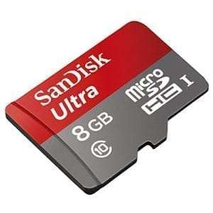 SanDisk Ultra 8GB Class 10 UHS-I MicroSDHC Memory Card with Adapter