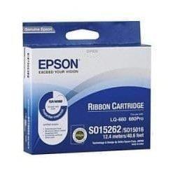C13S015262BA Epson SIDM Black Ribbon Cartridge for LQ-670/680/pro/860/1060/25xx