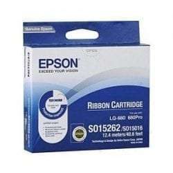 C13S015262BA Epson SIDM Black Ribbon Cartridge for LQ-670/680/pro/860/1060/25xx