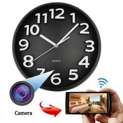 Wall Clock Surveillance Hidden Spy Camera Battery Powered