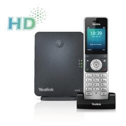 Yealink W60P Cordless DECT IP Phone and Base Station, 2.4-Inch Color Display
