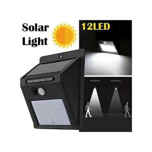 12 LED Solar Light – Motion Sensor And Photocell